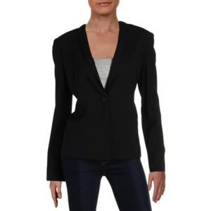 Elie Tahari Womens Wool  One-Button Blazer